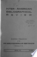 Inter-American Bibliographical Review
