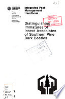 Distinguishing Immatures of Insect Associates of Southern Pine Bark Beetles
