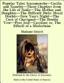 Pdf Popular Tales: ScaramoucheãCecilia and NanetteãThree Chapters from the Life of NadirãThe Mother and DaughterãThe Difficult Duty: Moral DoubtsãNew Year's NightãThe Cur_ of ChavignatãThe Double VowãPoor Jos_ãCaroline; or, The Effects of a Misfortune