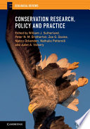 Conservation Research  Policy and Practice Book