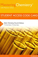 MasteringChemistry with Pearson EText    Standalone Access Card    for Basic Chemistry