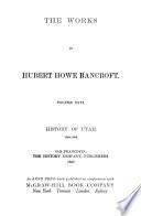 History of Utah  1540 1886