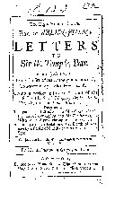 The Right Honourable the Earl of Arlington s Letters to Sir W  Temple  Bar