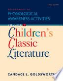 Sourcebook of Phonological Awareness Activities  Volume I  Children s Classic Literature Book