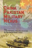 China Pakistan Military Nexsus