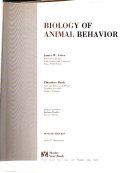 Biology of Animal Behavior Book