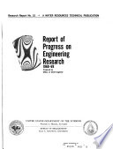 Report of Progress on Engineering Research Book
