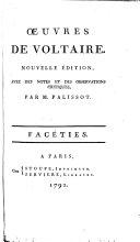 Œuvres de Voltaire: Facéties
