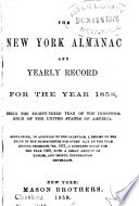 The New York Almanac and Yearly Record for ... 1857-58
