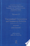 Transnational Corporations and Innovatory Activities
