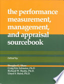 Performance Measurement Management And Appraisal Sourcebook