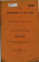 The Terminology of the Vedas and European Scholars