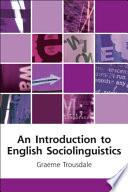 Introduction to English Sociolinguistics