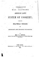 American Lady's System of Cookery