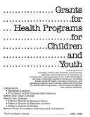Grants For Health Programs For Children And Youth