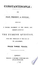 Constantinople  its past  present and future Book PDF
