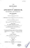 The History of Ancient Greece  Its Colonies and Conquests Book