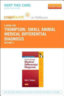 Small Animal Medical Differential Diagnosis Pageburst EBook on Vitalsource Access Code