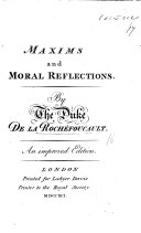 Maxims and moral reflections     A new edition  revised and improved