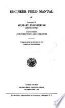 Engineer Field Manual  pt  1  Military engineering  tentative   Communications