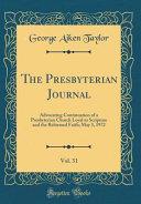 The Presbyterian Journal Vol 31