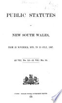 Public Statutes of New South Wales