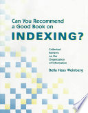 Can You Recommend A Good Book On Indexing  Book PDF