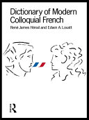 Pdf Dictionary of Modern Colloquial French Telecharger