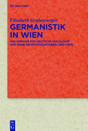 Read Online Germanistik in Wien For Free