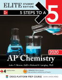 5 Steps to a 5  AP Chemistry 2020 Elite Student Edition
