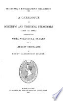A Catalogue Of Scientific And Technical Periodicals 1665 1882