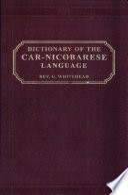 Dictionary of the Car-Nicobarese Language