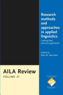 Research Methods and Approaches in Applied Linguistics