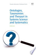 Ontologies  Taxonomies and Thesauri in Systems Science and Systematics