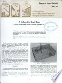 A Collapsible Quail Trap Book