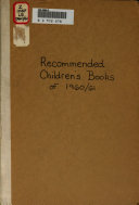 Recommended Children's Books ebook
