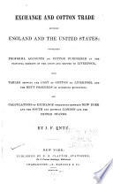 Exchange and Cotton Trade Between England and the United States