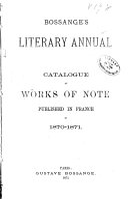 Bossange's Literary Annual