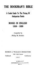 The Bookman S Bible Books In English 1850 1899