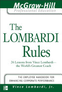 The Lombardi Rules Pdf/ePub eBook