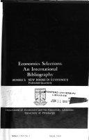 Economics Selections  An International Bibliography