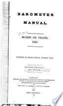 Barometer manual