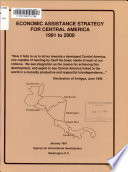 Economic Assistance Strategy for Central America  1991 to 2000