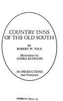 Country Inns of the Old South Book