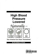 High Blood Pressure Lowered Naturally Book PDF