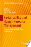 Sustainability and Human Resource Management Book