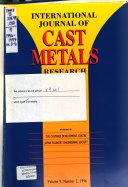 International Journal of Cast Metals Research Book