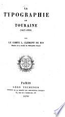 La typographie en Touraine (1467-1830)