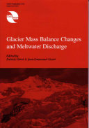 Glacier Mass Balance Changes and Meltwater Discharge Book