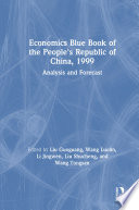 Economics Blue Book Of The People S Republic Of China 1999